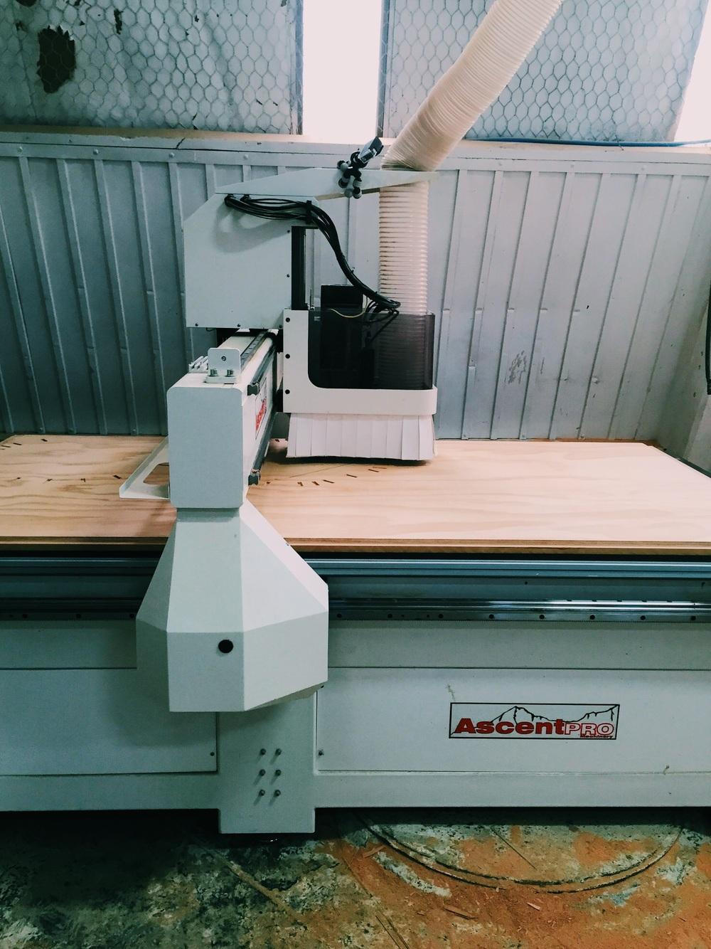 CNC cutting the framework