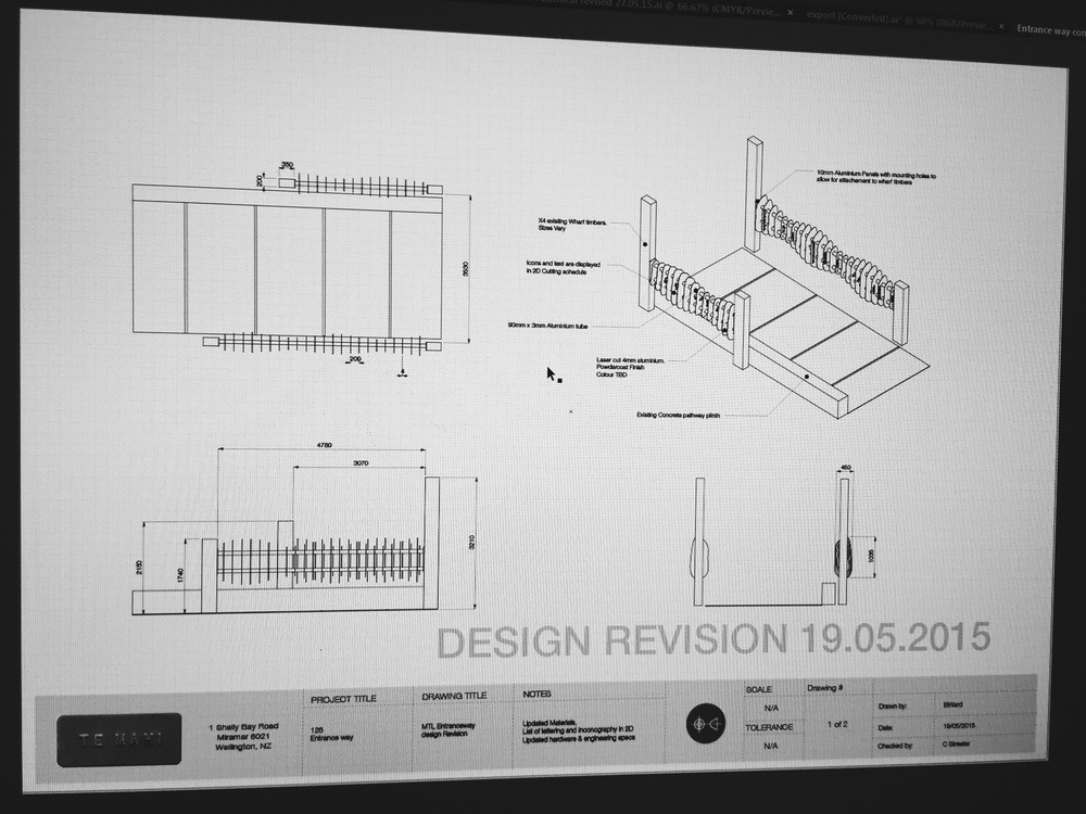 Drawings for entranceway concept to meet the locals at Wellington zoo