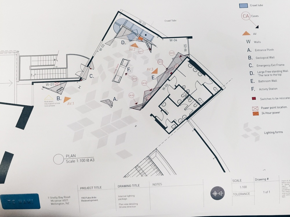 Plan of the exhibition for onsite contractors