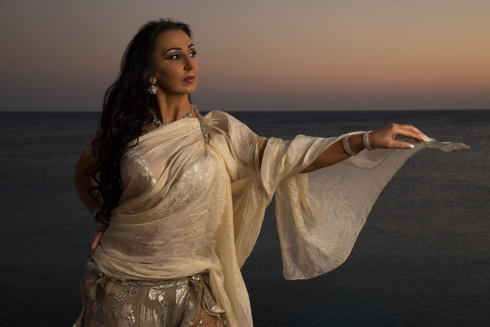 Dancer Evelina Papazova, photographed at Cavo Grecco, Cyprus