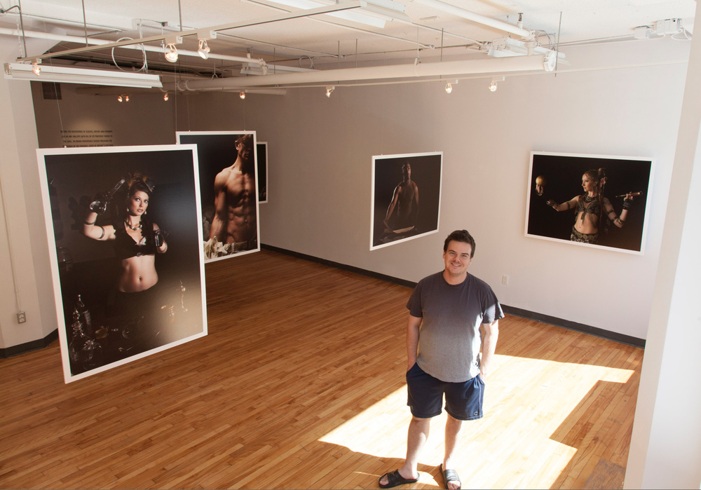 Photographer Pedro Bonatto at the OCAD Graduate Gallery in Toronto, Canada.
