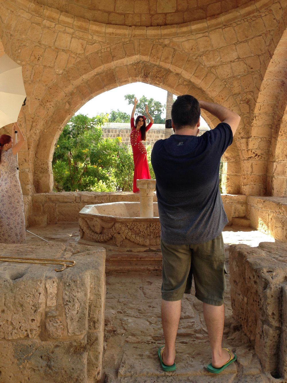 Photographing Eva Mandisa in Ayia Napa, Cyprus