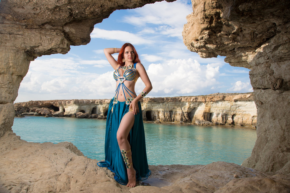 Iana Komarnytska, photographed in Cyprus