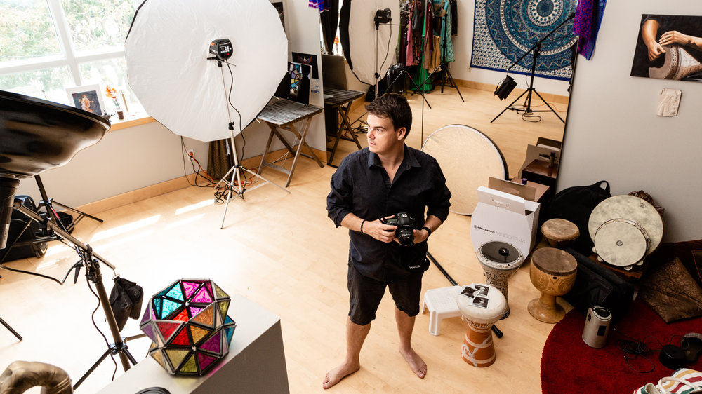 Pedro Bonatto photographed at his home studio in Toronto by Gloria Caballero.