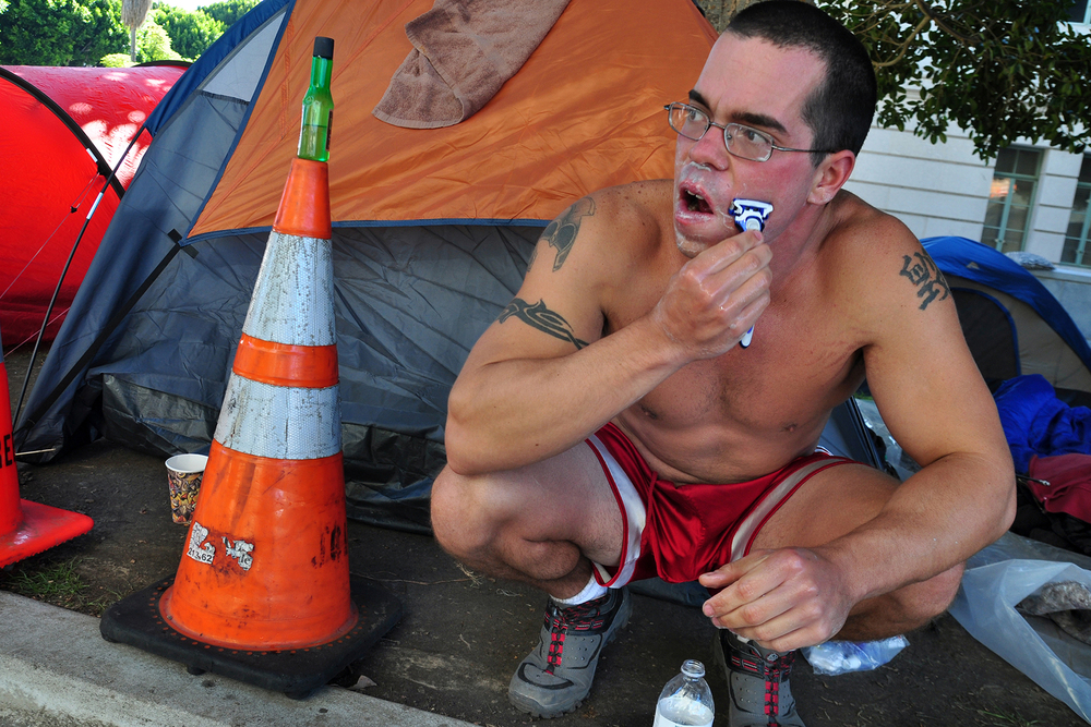 Occupy L.A. activist, 2011