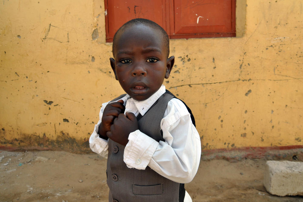 Boy at church, Bei Province