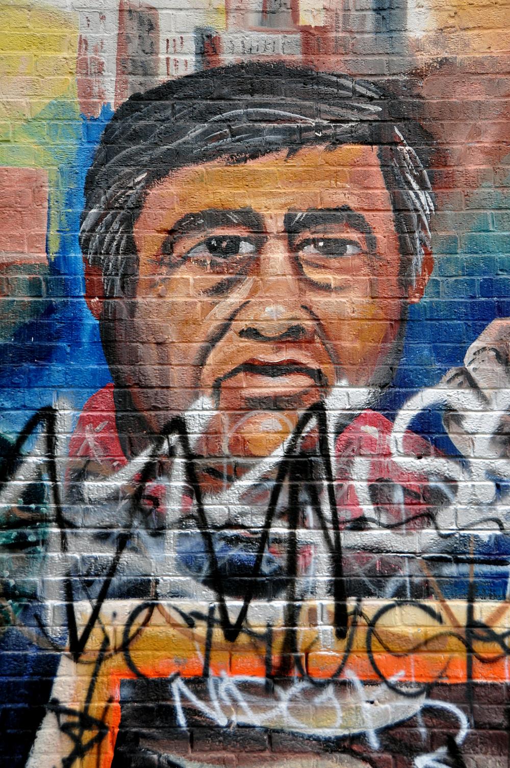Cesar Chavez mural,Los Angeles
