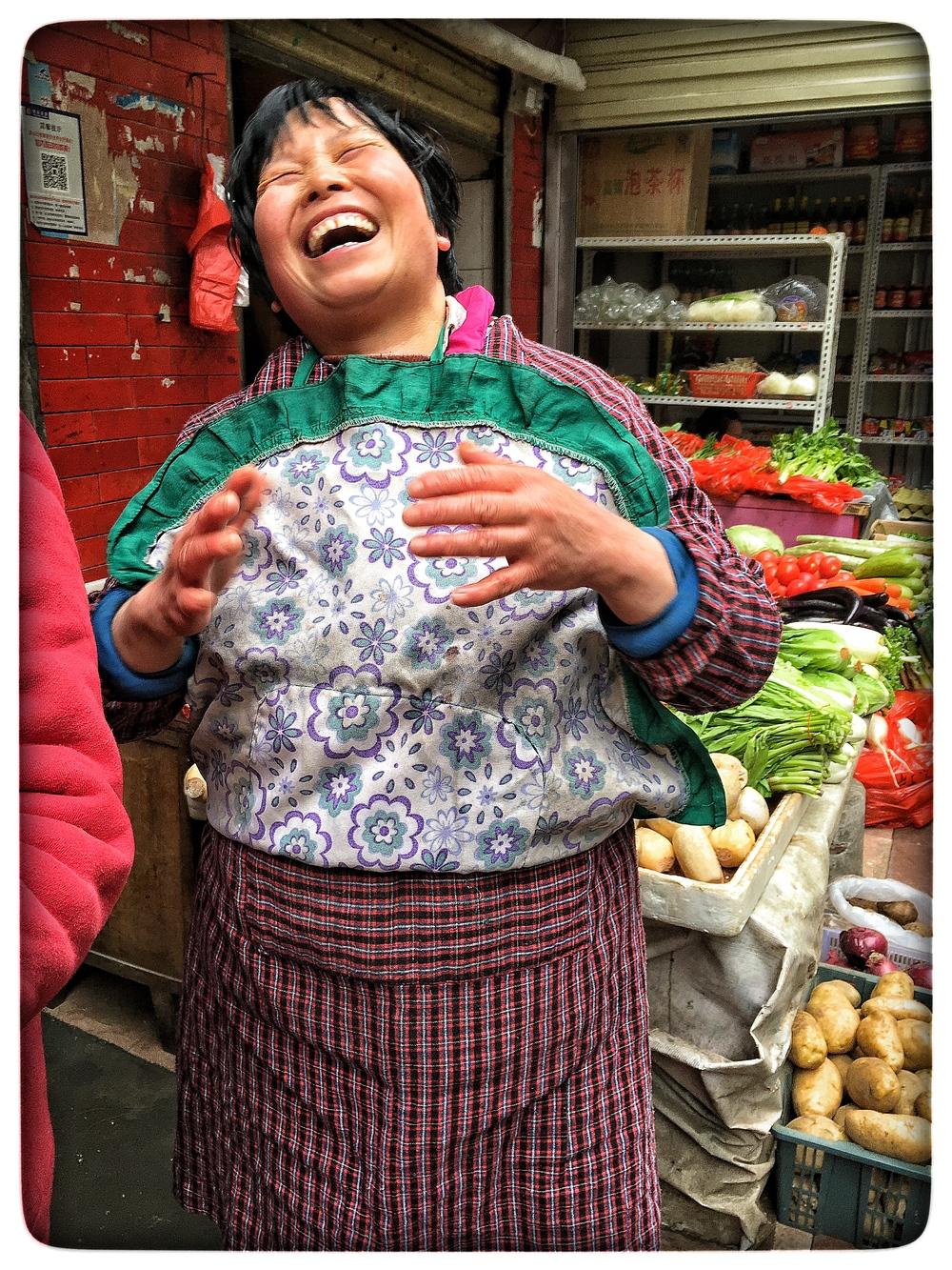 Market woman, Wuhan