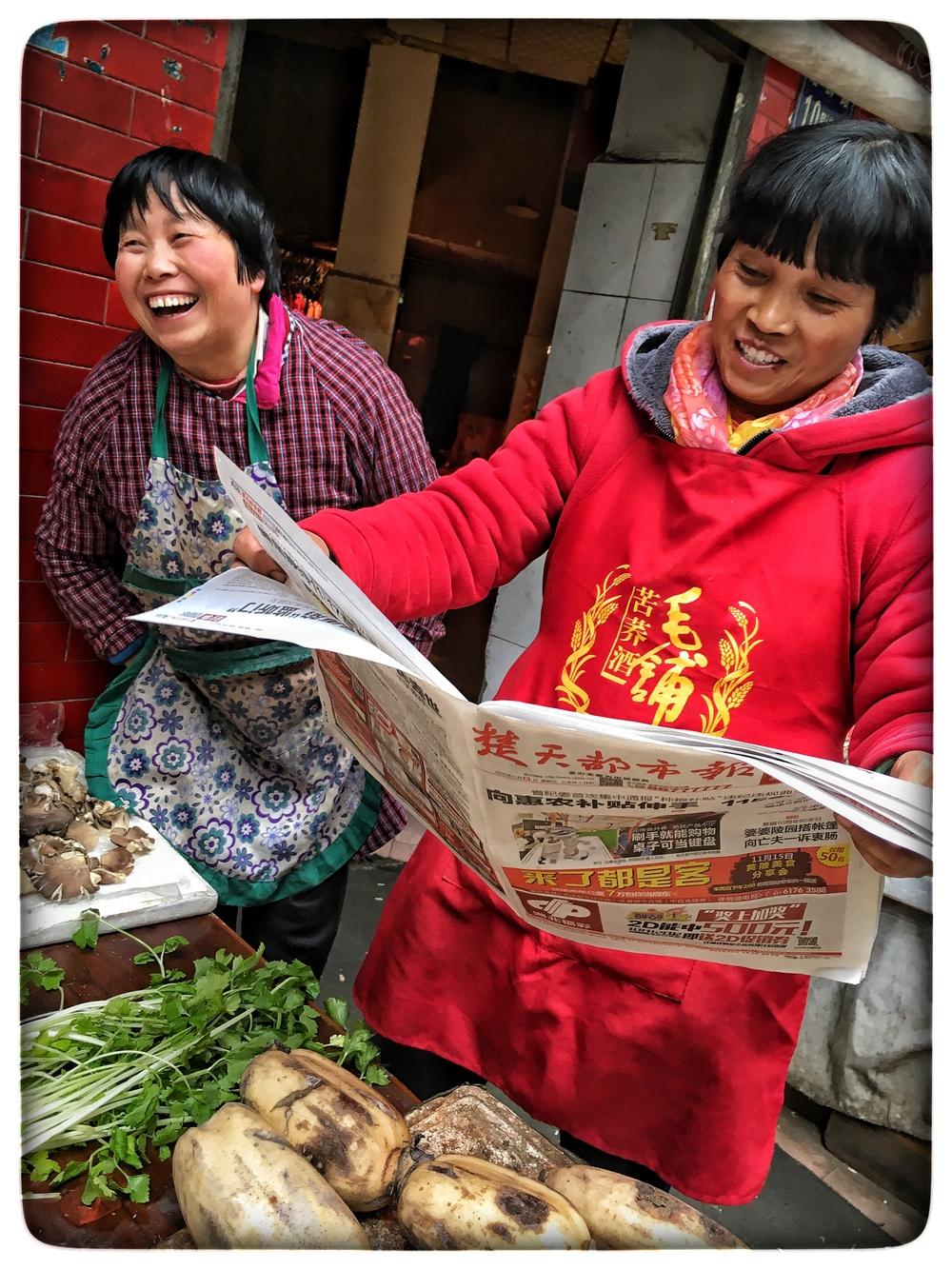 Market women, Wuhan