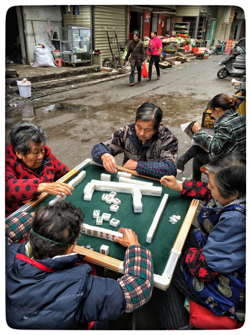 Mahjong game, Wuhan