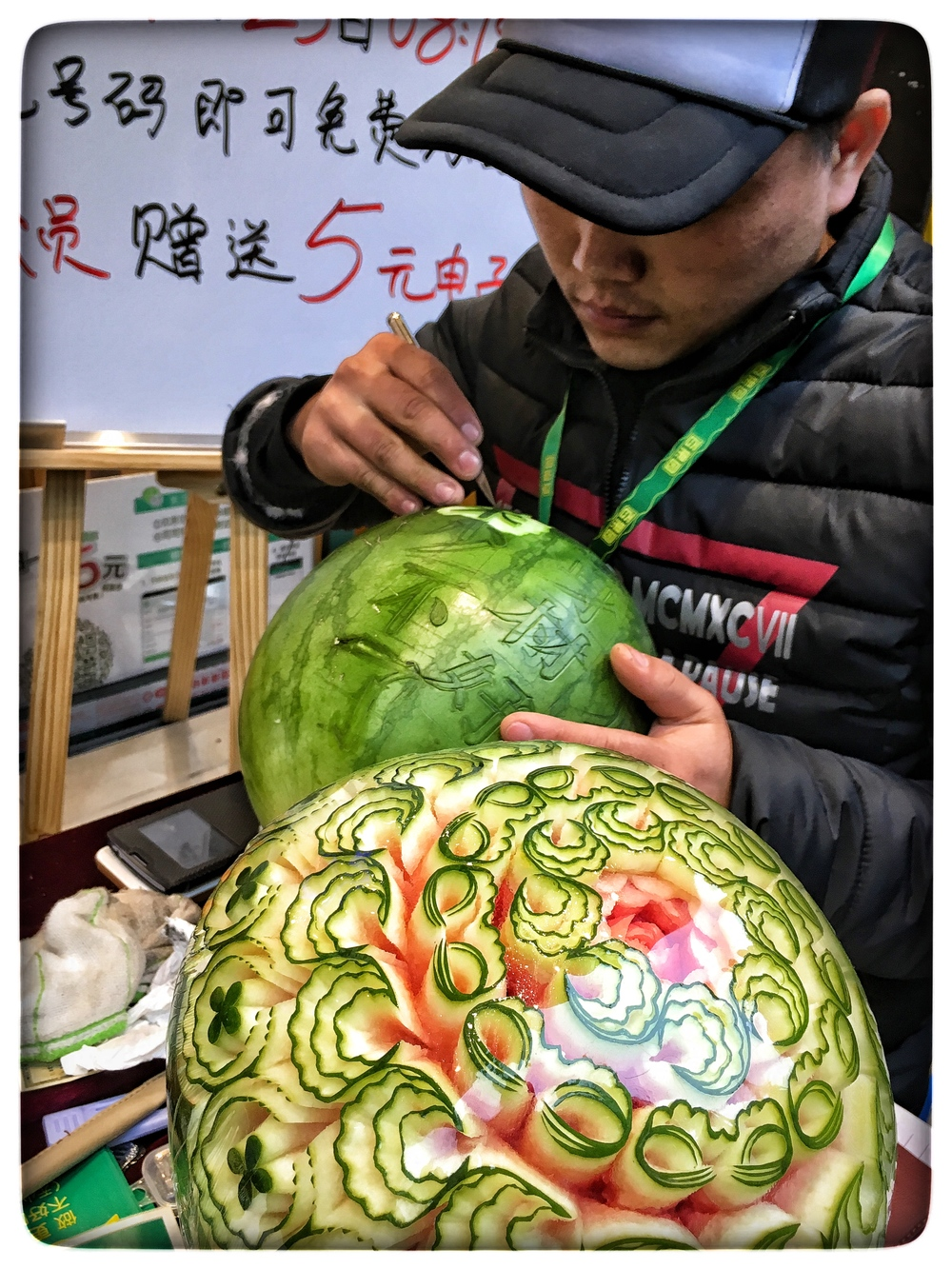 Watermelon carver, Wuhan