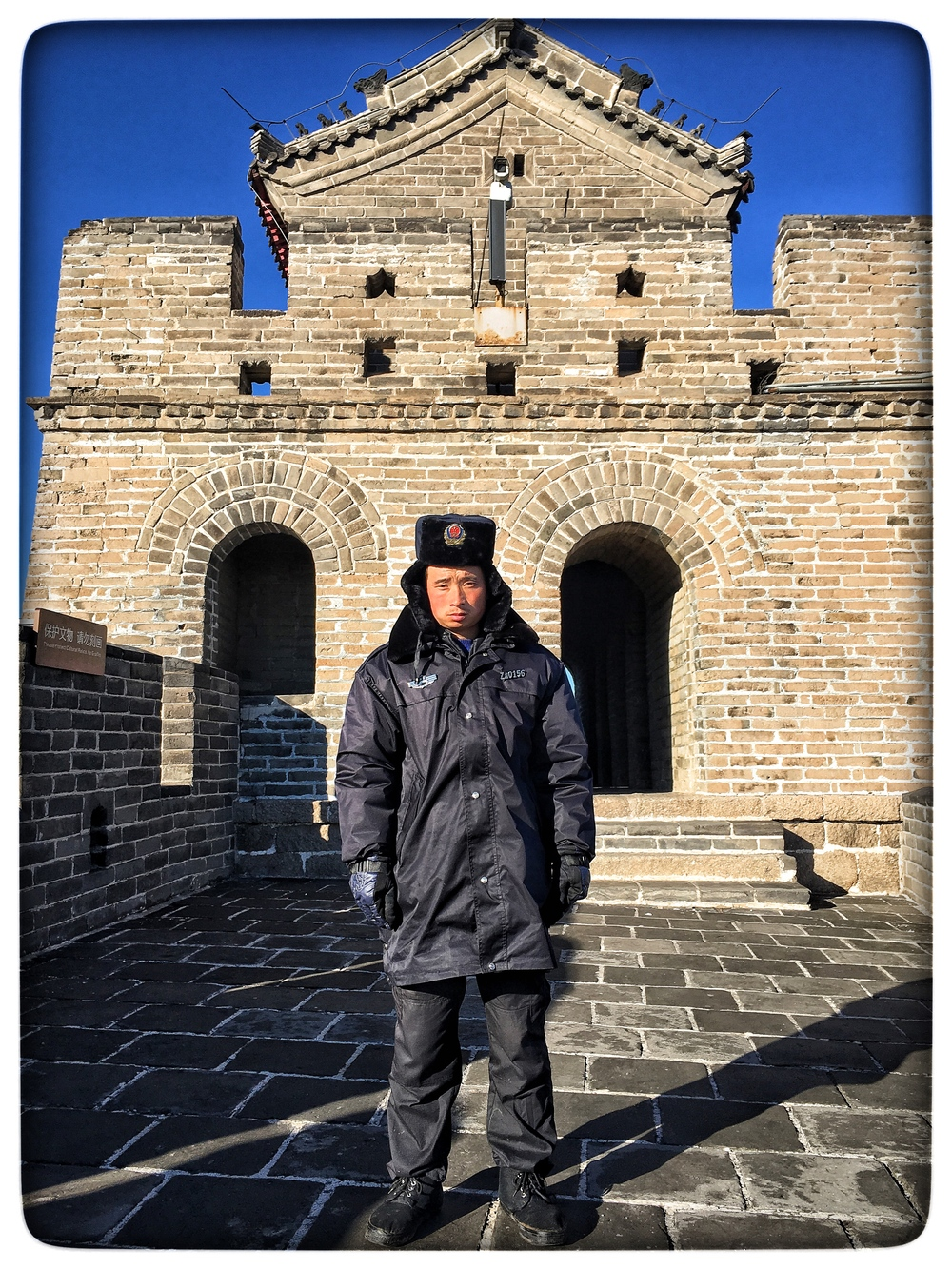 Great Wall of China guard