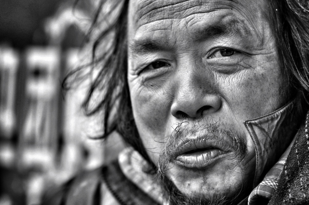 homeless man, han zheng, wuhan