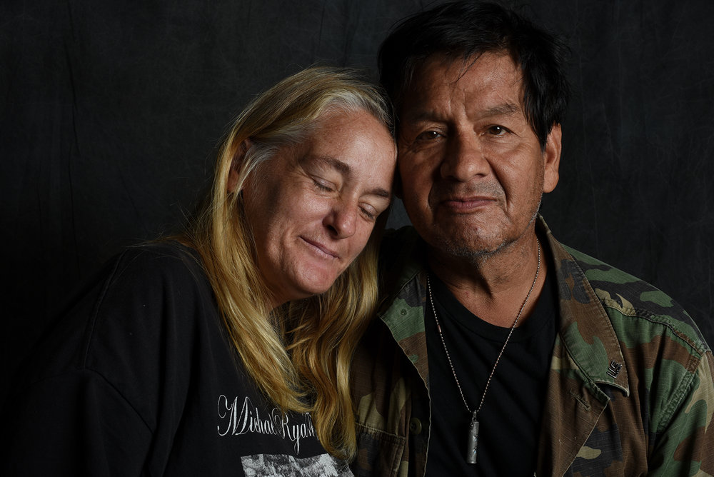 Ray & Donna. Homeless Vietnam Vet, 2016