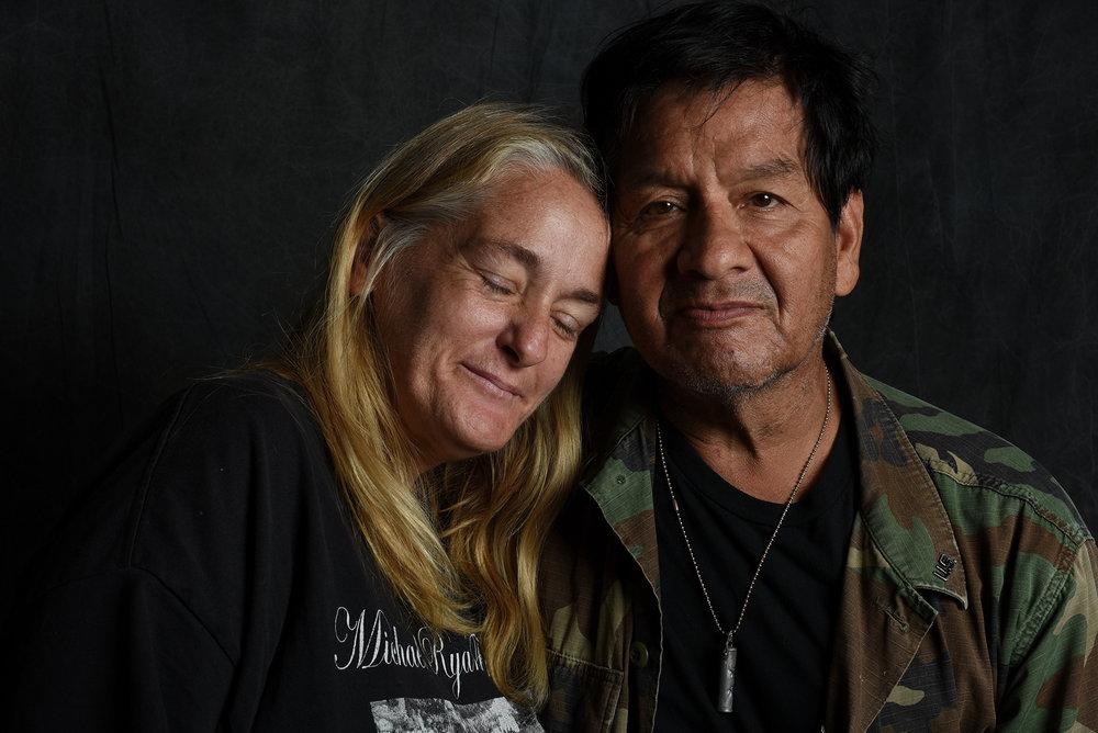 Ray & Donna. Longtime homeless Vietnam Vet
