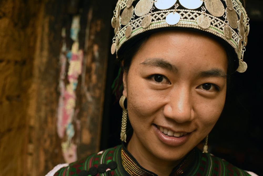Hani singer,Luomo Village, Yunnan, 2017