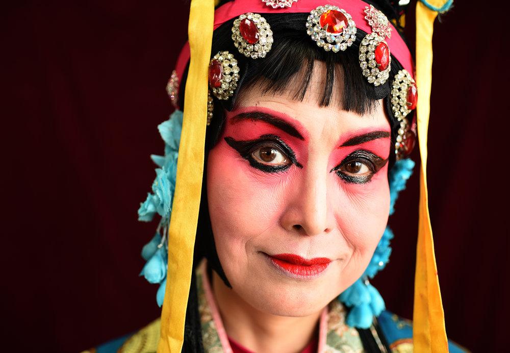 Jing He Xi opera performer, Jingzhou 2017