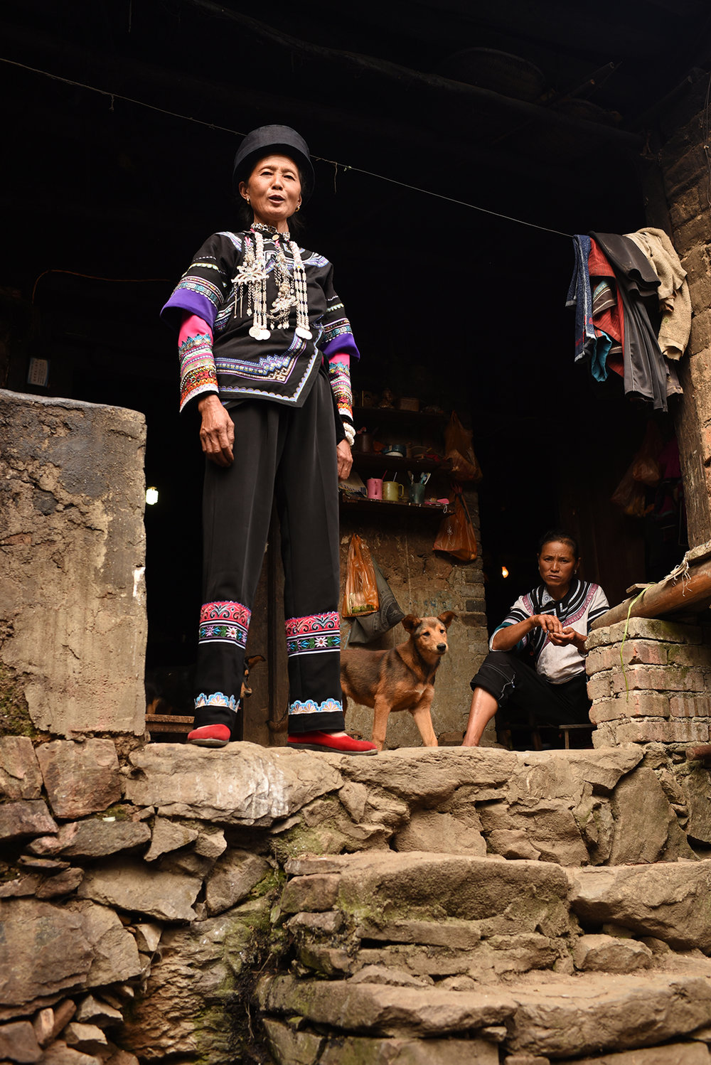 Li Apang, inheritor of Yi Lezuo traditional dance. Dieshi village, Yunnan, 2017.