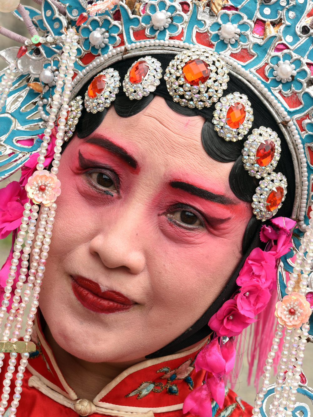 Opera performer, Jingzhou, China