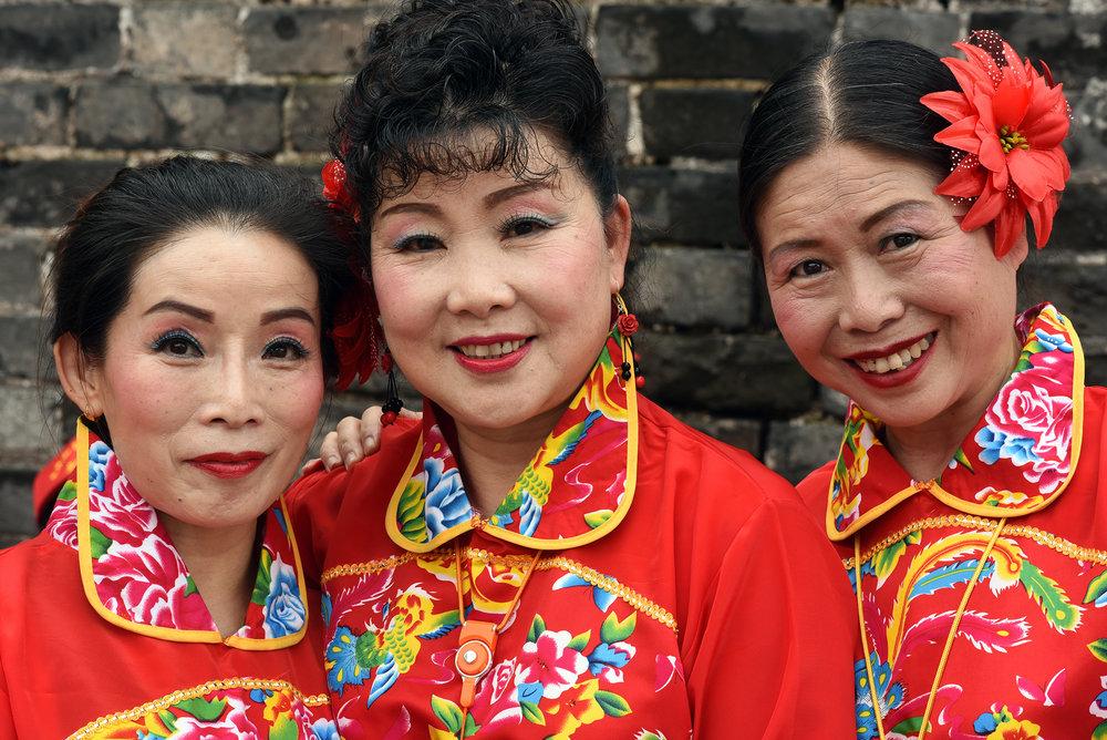 Folk dancers, Jingzhou Cultural Heritage Day, 2017.