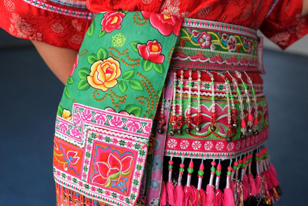 Yi costume design, Yang Wu village