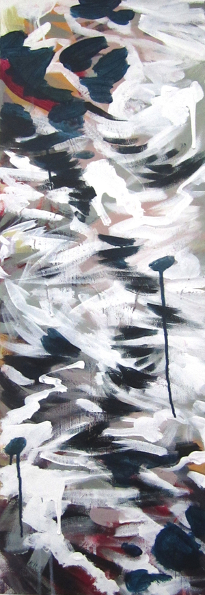 """White River   2012 12"""" x 36"""" Acrylic on Canvas  $700"""