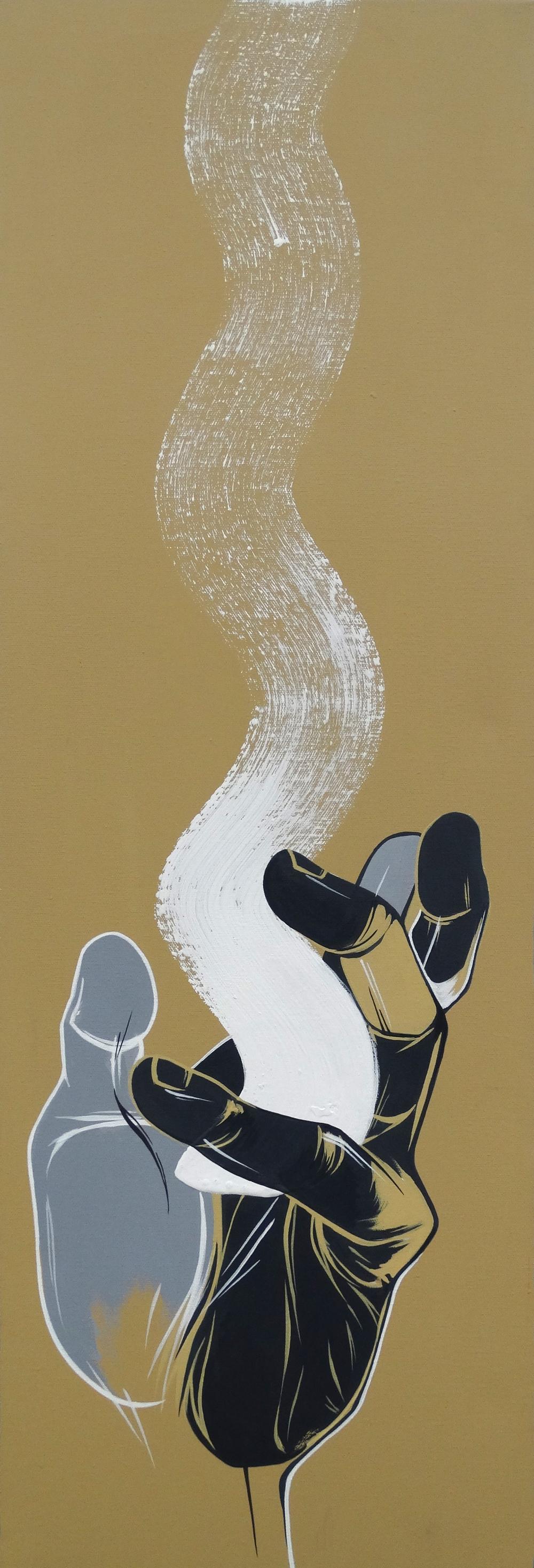 "Meditation   12"" x 36""Acrylic on Canvas  SOLD"