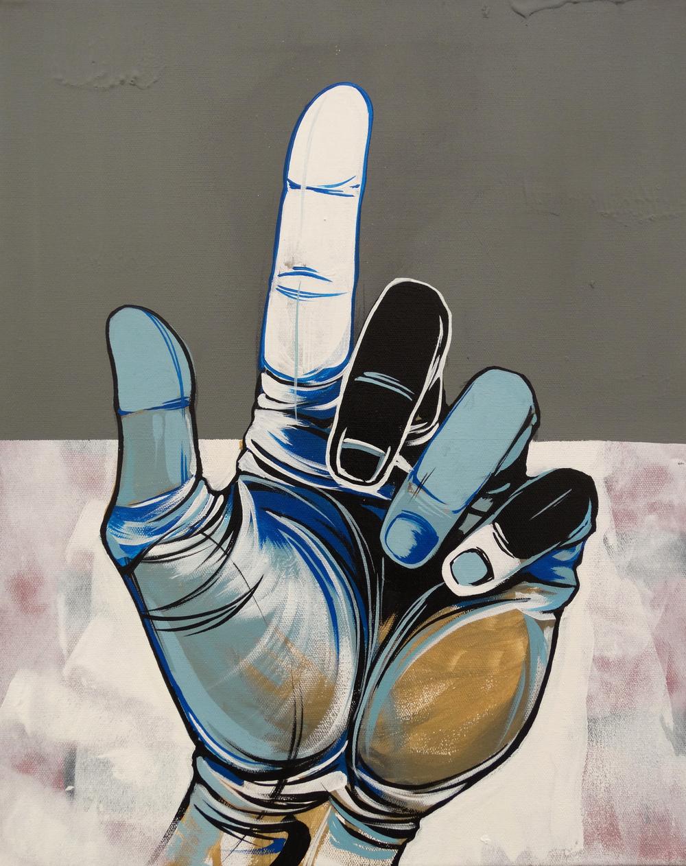 """Up  16"""" x 20""""Acrylic on Canvas  $ 650"""