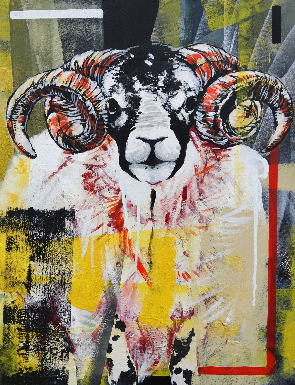 "Ram  20"" x 24""Acrylic on Canvas   SOLD"