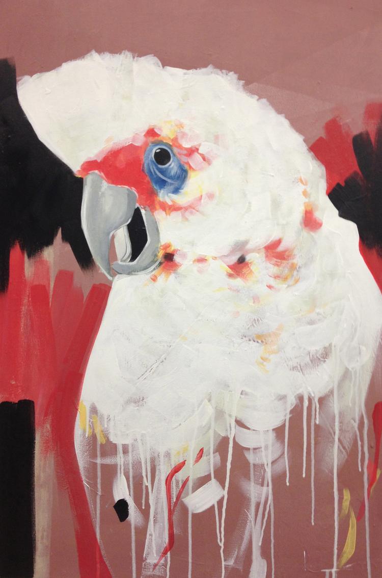 "White Bird  24"" x 36""Acrylic on Canvas  $ 800"