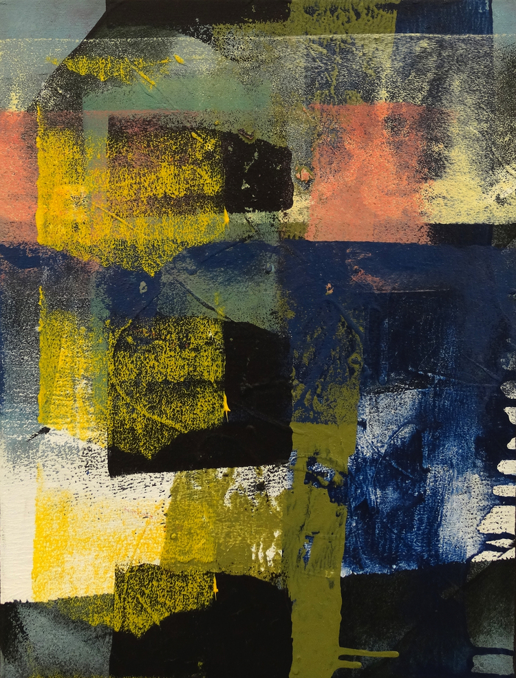 "Surfacing  12"" x 16""Acrylic on Canvas  $ 350"