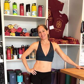 Leslie , Owner/Director/Instructor  Being the owner/director of Sweet Heat Hot Yoga is a culmination of my 25 year pursuit to help people preserve good health and vitality. I have a BS in kinesiology from San Diego State University and have been an ACSM-Certified Exercise Physiologist since 1999. At Sweet Heat Hot Yoga we take a decidedly western approach to the practice of yoga.  I began doing yoga 18 years ago as a cross-training vehicle to give my body a rest from other athletic pursuits. What I received in return for my efforts surpassed what I thought was possible from a yoga class. I learned to be a better person; to live in the world with honesty and integrity. Please come join us to learn, grow, and explore your inner world in ways you may have never considered.