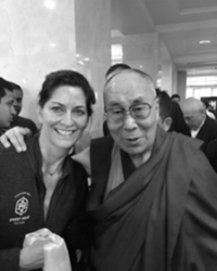 One of our students with the Dalai Lama!