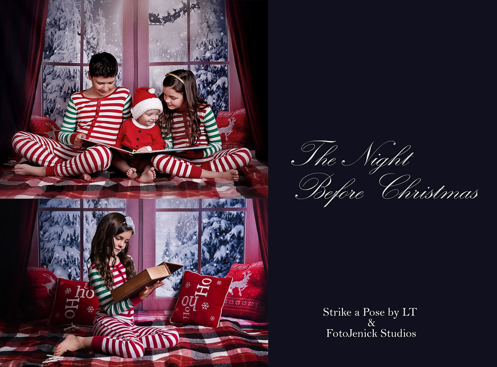 This is our Night Before Chistmas Set Bring out those Christmas Pj's! This set can fit up to 4 Children