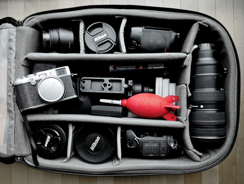 Photographic gear of Duncan Davidson