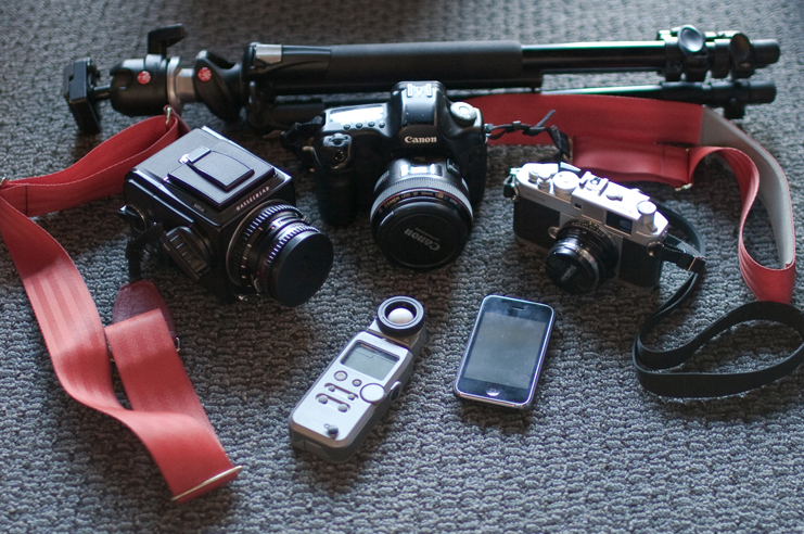 Photographic gear of John Carey