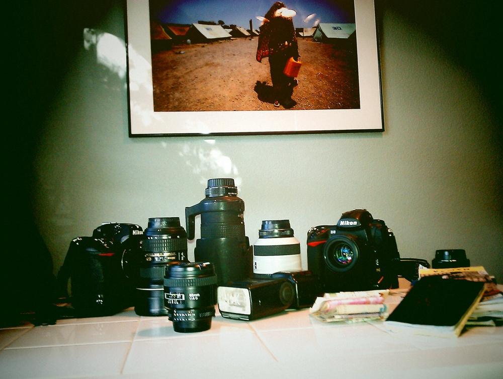 Photographic gear of Micah Albert