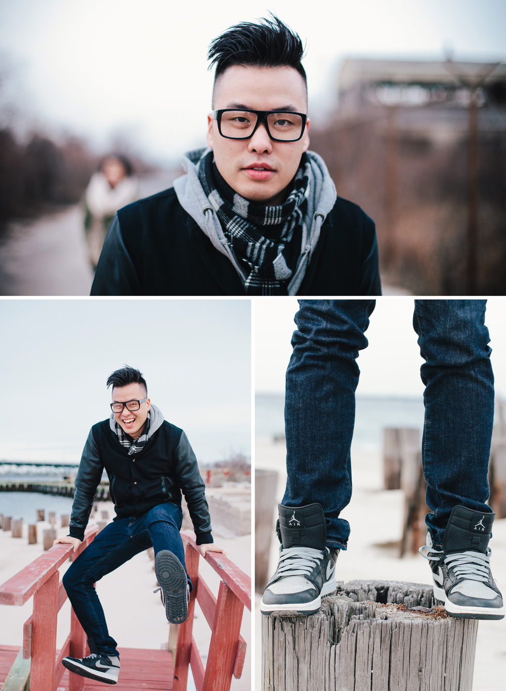 Portrait of Howard Jang at Rockaway, Queens