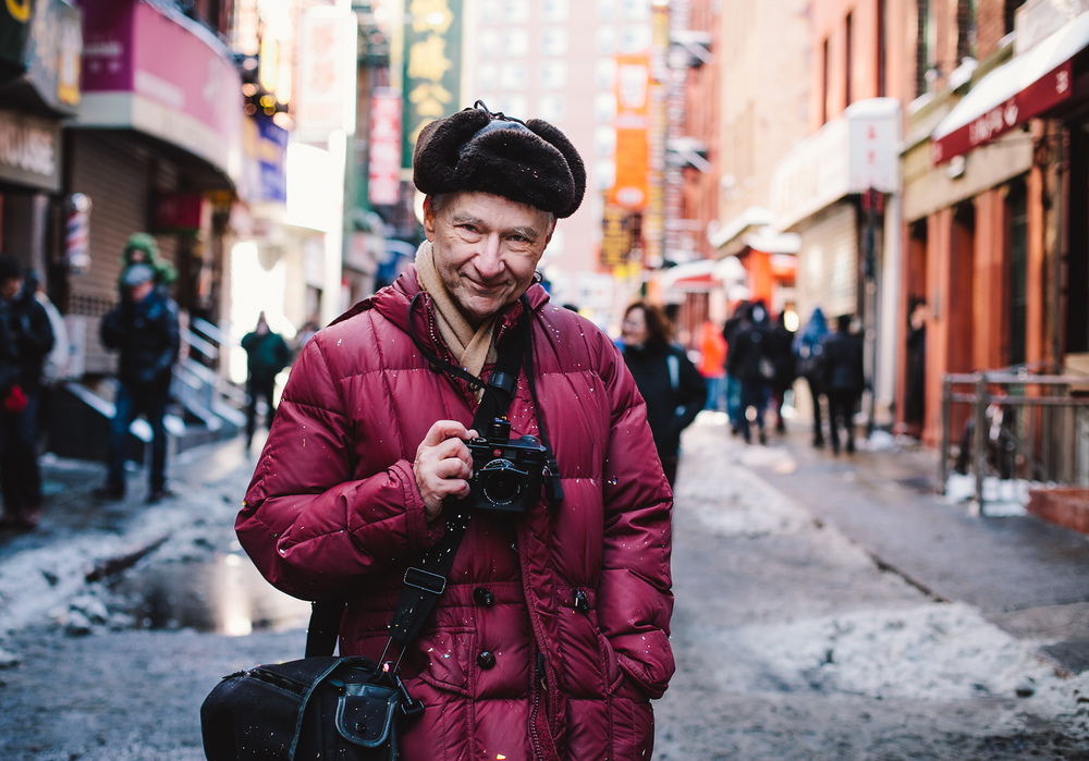 Portrait of Allen and Leica M9 in Chinatown