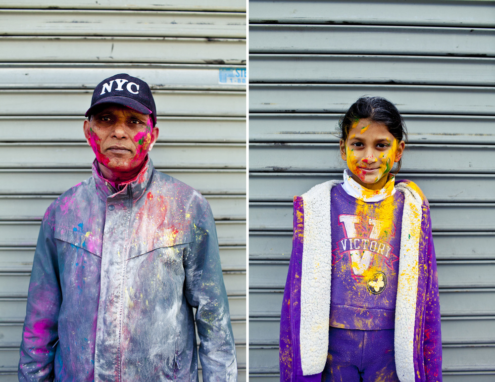 Holi Portraits in Richmond Hill, Queens