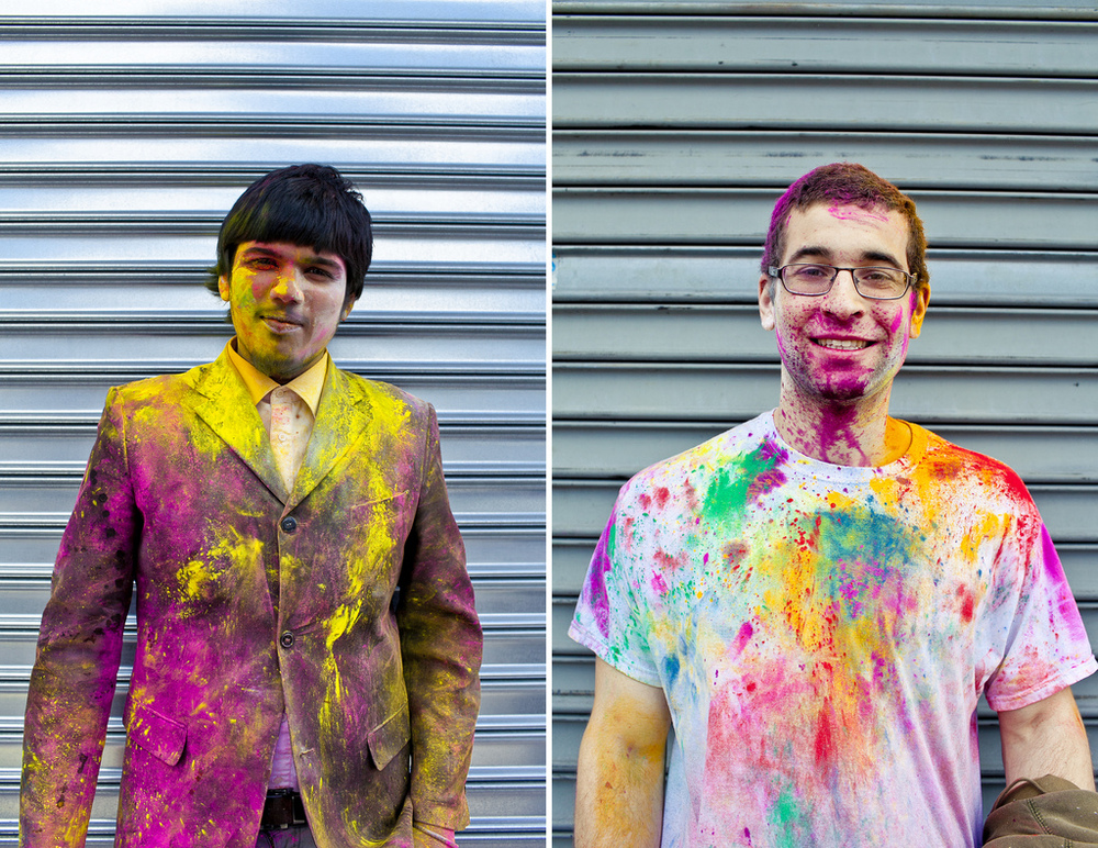 Holi Portraits in Richmond Hill Queens