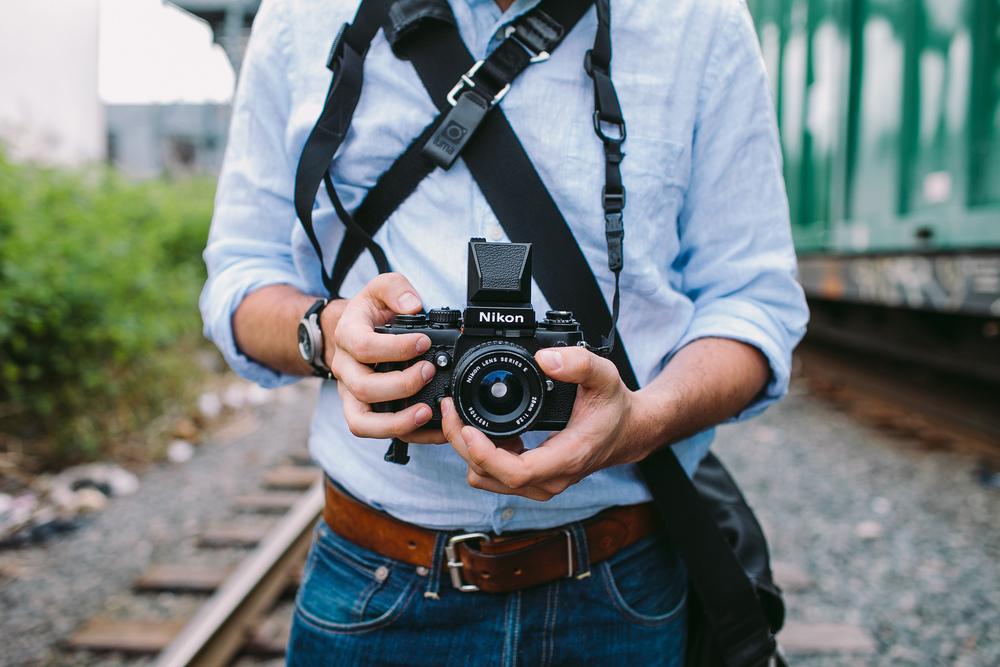 Joel Zimmer and his Nikon F3