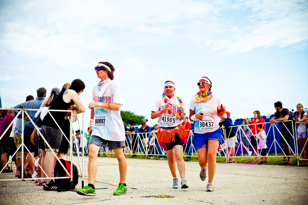 There are two rules at The Color Run 5K races—wear a white shirt at the starting line, and finish plastered in color. Participants of all fitness levels weave through a leisurely course as volunteers lob colored powder at them, crossing the finish line doused in a rainbow of hues.