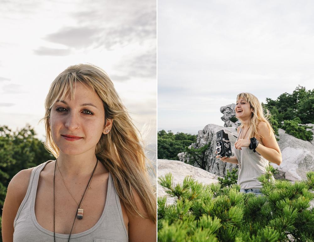 Tina Berardi at Bonticou Crag