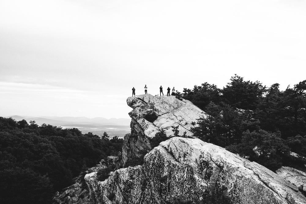 The Gang at Bonticou Crag Summit