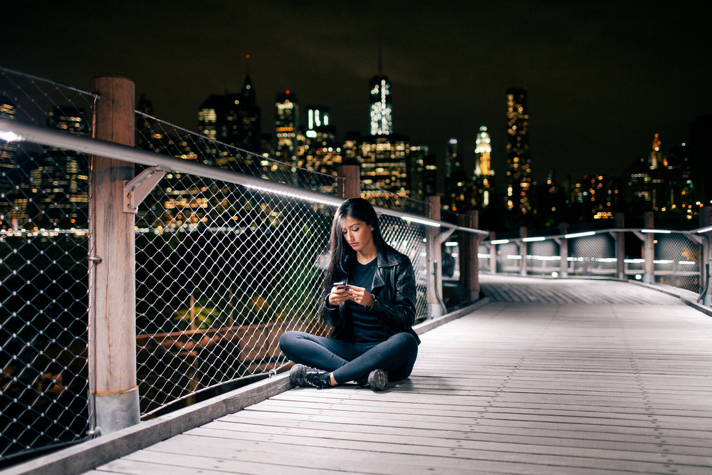 Portrait of Natalie Amrossi at Brooklyn Bridge Park