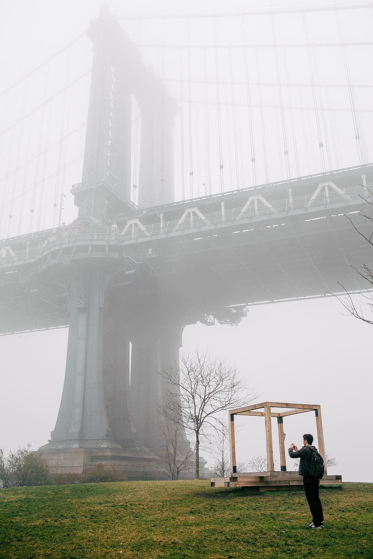 Foggy NYC at Brooklyn Bridge Park