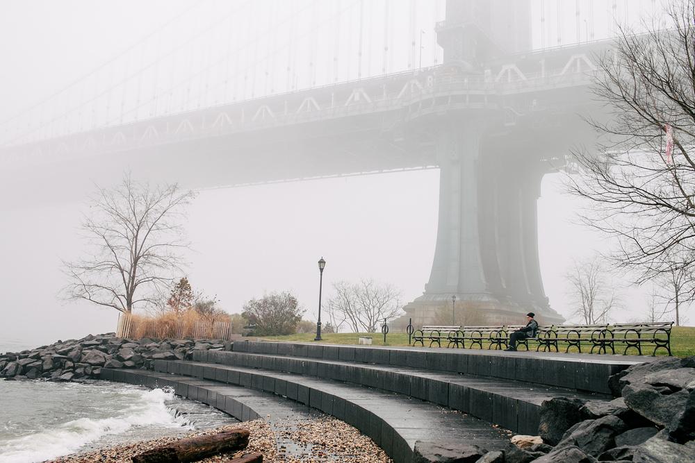 Fog at Brooklyn Bridge Park