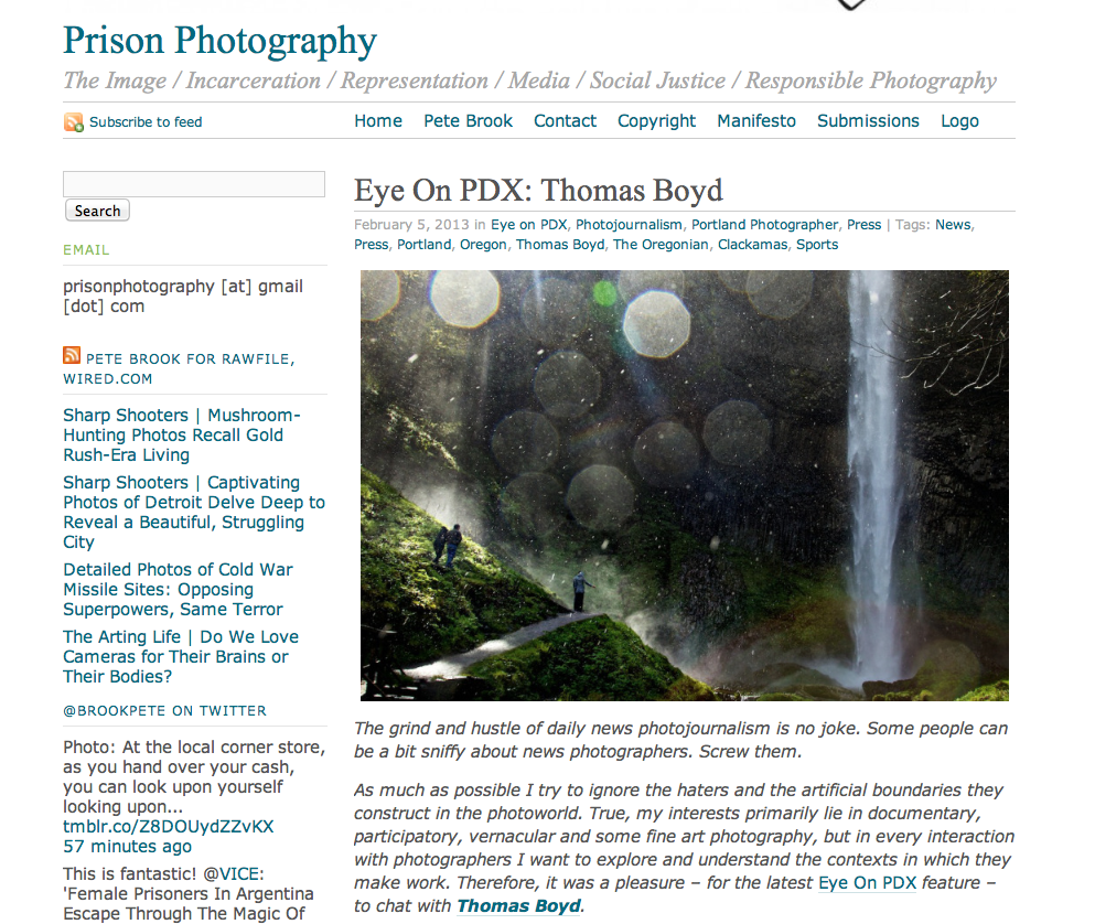 Pete Brook's Prison Photography blog.