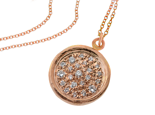 14k Rose Gold and Diamonds; By Marika